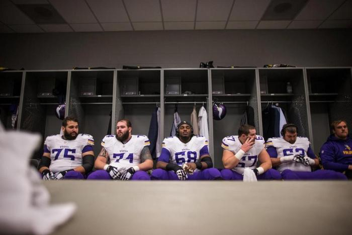 Vikings' starting offensive line