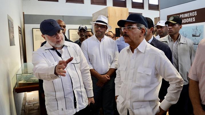 Danilo visita el Parque Histórico La Isabela y brinda su apoyo a la comunidad de Luperón
