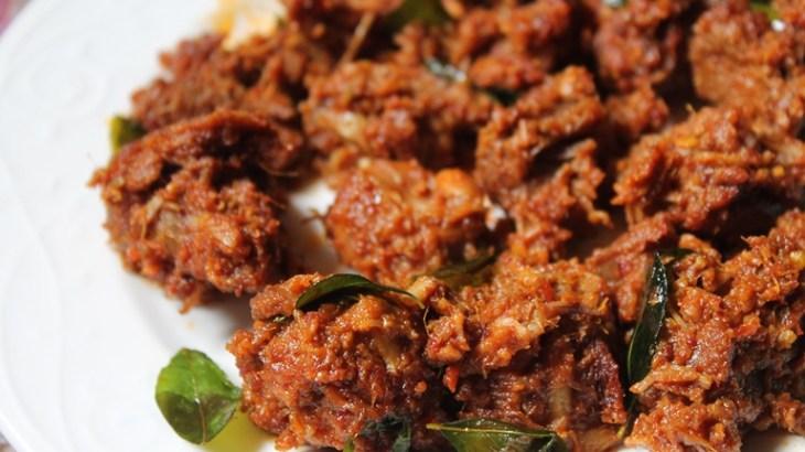 mutton roast recipe, mutton dry recipe, kerala recipe. mutton roast recipe with step by step pictures