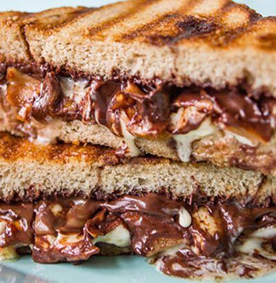Chocolate Sandwich recipe, easy kids snack recipe, snack recipe with bread