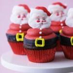 santa claus cupcakes, christmas papa cupcakes, christmas decoration ideas
