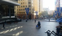 Sydney CBD. Having a look at the Lindt Cafe from a distance. I was in Victoria during the events