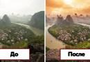 Известный фотограф показал снимки до и после фотошопа.