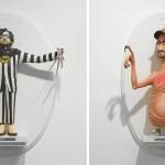 Американский художник создал деревянные фигурки, объединив известных кинематографистов со знаковыми персонажами из их фильмов.