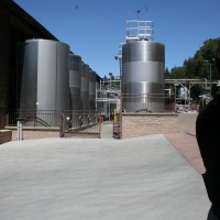 Tanks behind the Winery