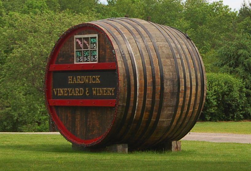 Hardwick Vineyard barrel / Photo: Marguerite Barrett