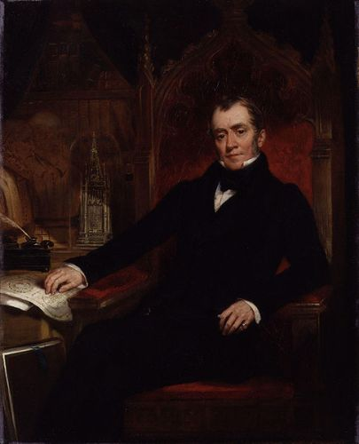 Portrait of John Britton by John Wood (died 1870) from the National Portrait Gallery, london and is in the public domain due to its age