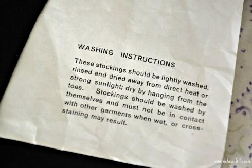 Vintage Stocking Washing Instructions