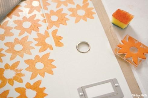 Viking Arty Party Block Printing Flower Pattern
