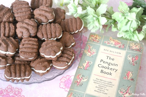 Chocolate Biscuits from a 50s Recipe Made with Cookie Press