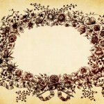 Vintage Floral Background Texture