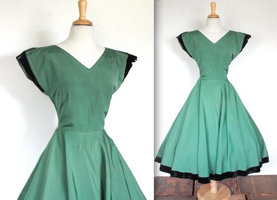 1940s vintage cocktail dress