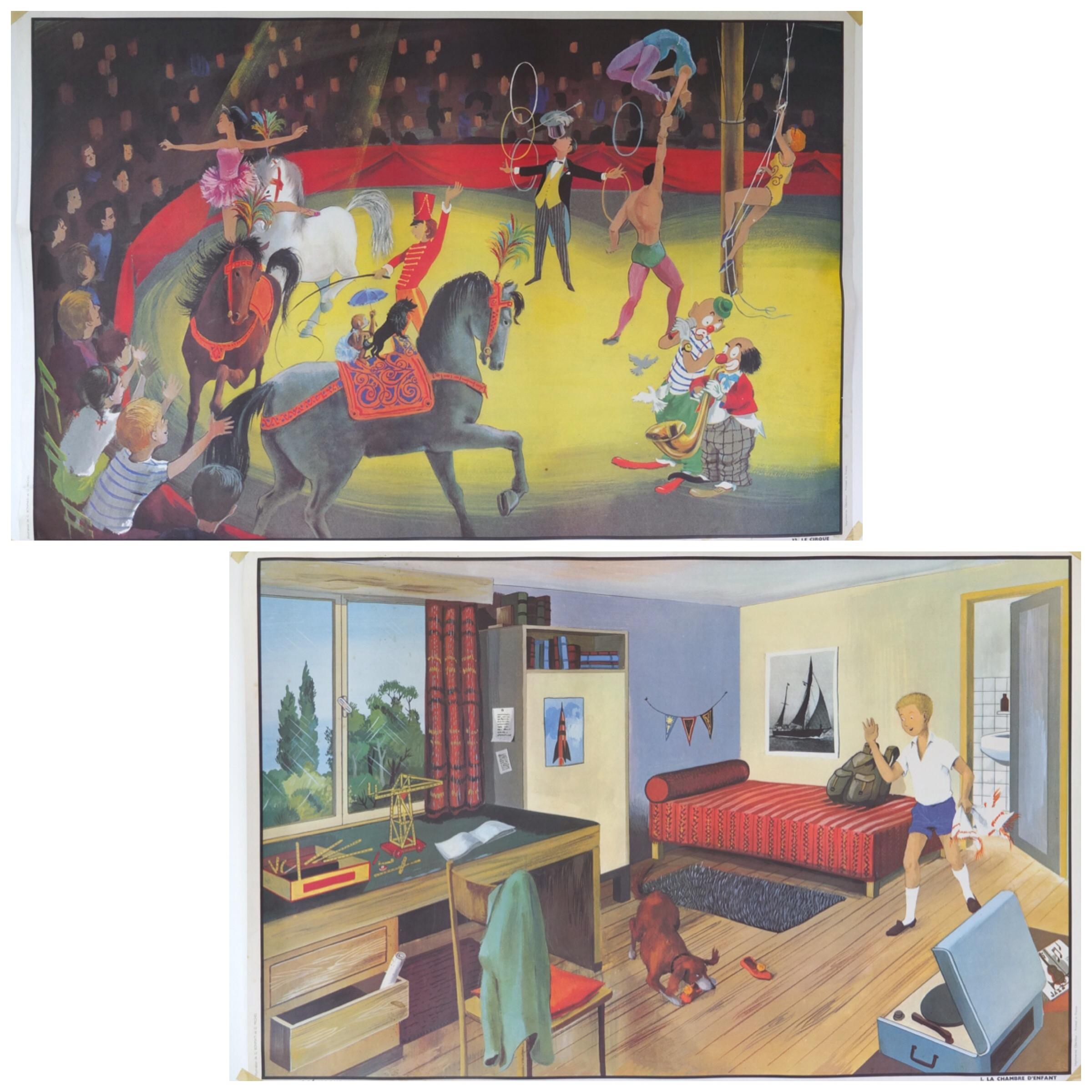 affiche le cirque la chambre vintage magic. Black Bedroom Furniture Sets. Home Design Ideas