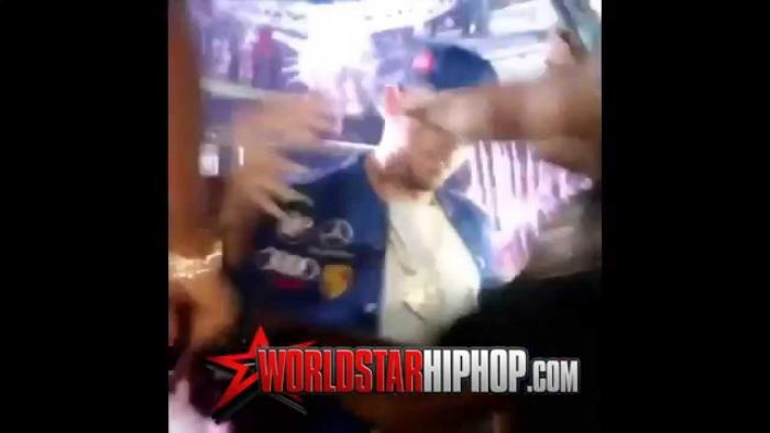 Chris Brown Shoves Female Fan Out The Way For Trying To Kiss Him On The Lips