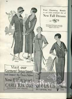 1924 Fashion Illustrations   dresses and hats