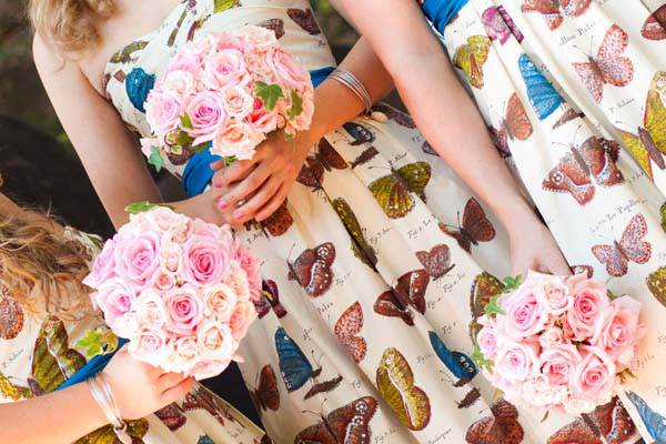 Butterflies at Weddings - bridesmaids dress via National Vintage Wedding Fair blog
