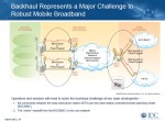 Backhaul Challenge to Mobile Broadband