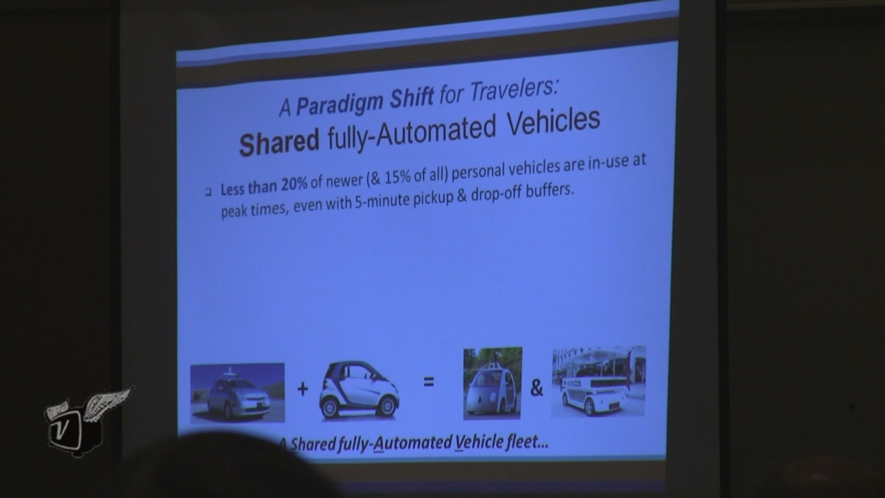 A screen shot from Dan Fagnant's presentation at the July 2014 Automated Vehicle Symposium.