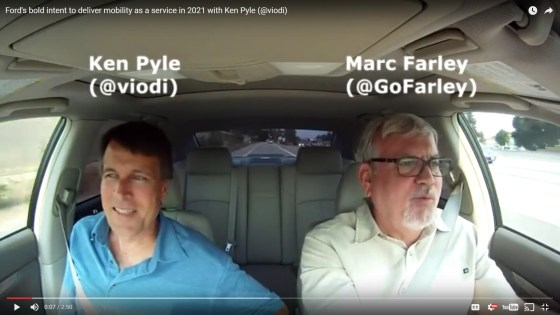 Marc Farley interviews Ken Pyle about Ford's mobility plans in a ridecast
