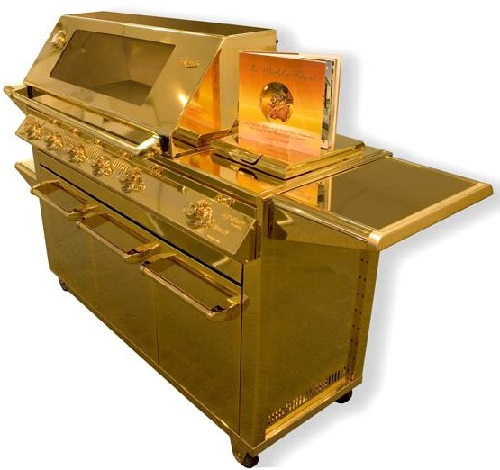 Ten unusual gold products. Gas barbecue grill SL Gold by Australian company