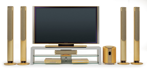 Ten unusual gold products. LG gold TV-set