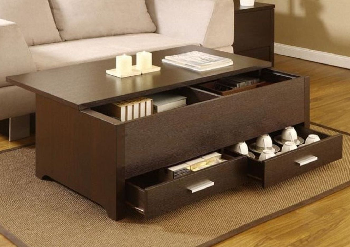 Fullsize Of Coffee Table Storage
