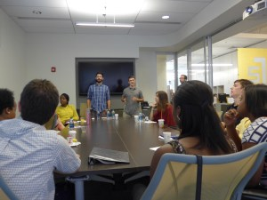 August 19, 2015: First Group Meeting; Derek & Eric present inworld work they have been doing all summer.