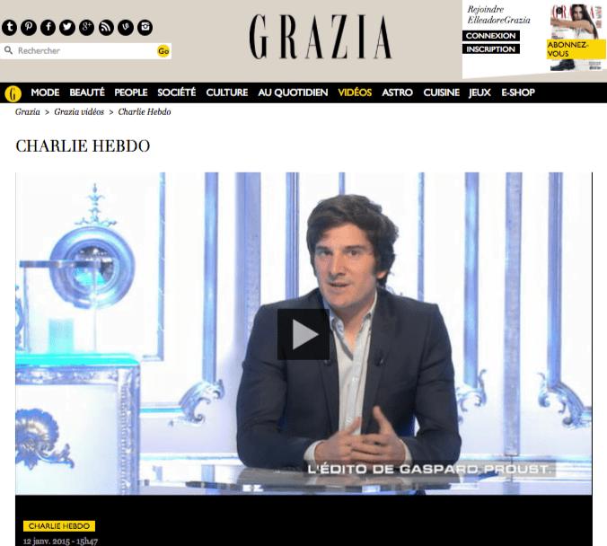 Home Page du site Grazia