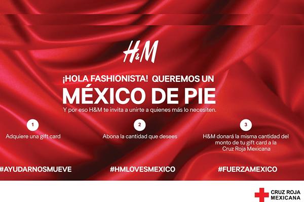 H&M SE SOLIDARIZA CON LOS AFECTADOS POR EL SISMO1