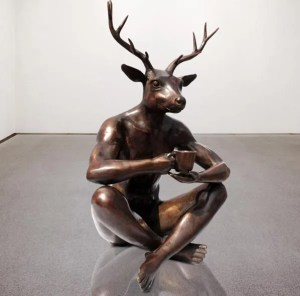 DeerManBronzeSculpture