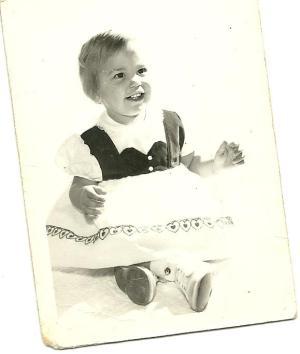 Kathi Cozzone around her first birthday.