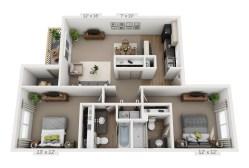 Distinctive Plans Pricing Vista View Apartments 84 7 X 12 Bandsaw