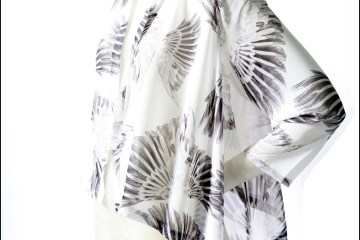 Feather Print Scarf Jacket by VT Luxe