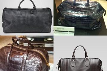 Men's Bags : Bottega Woven Duffle, Zaglliana Croc Overnight Bag, Tom Ford Croc Duffle, Gucci Carry-On