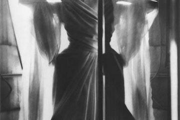 "Lillian Bassman: ""Paris: Dinner at Nine,"" model Barbara Mullen, dress by Piguet, Paris, 1949 (Harper's Bazaar, 1949)."