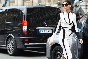 Giovanna Battaglia during Fall Paris Fashion Week. Photo Courtesy of Tommy Ton.