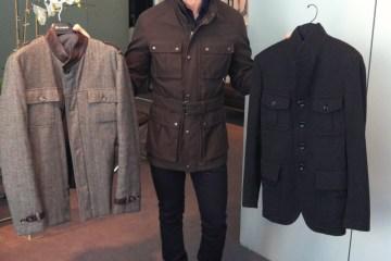 Jesse's Safari Jackets: Bottega (2004), Prada (2008), Tom Ford (2012)