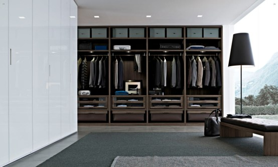 Men's closet by Poliform