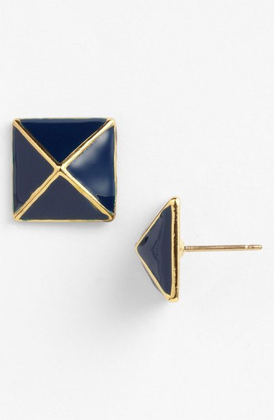 1. kate spade new york 'Locked in' Small stud earrings