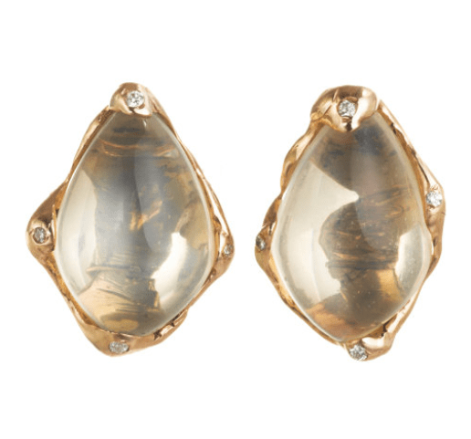 1. Lucifer Vir Honestus Moonstone Stud Earrings
