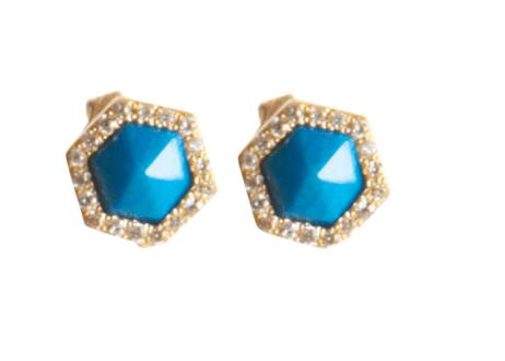 2. Monique Pean Opalina & White Diamond Waterfall Stud Earrings