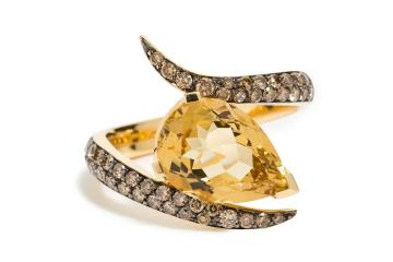 Shaun Leane 18K Yellow Gold Quartz Ring