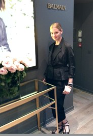 Lisa Marie at Balmain showroom