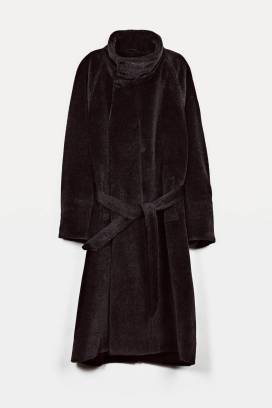 6. Christophe Lemaire Asymmetrical Coat - Charcoal