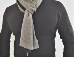 Club Monaco Cashmere Sweater, Hermès Scarf