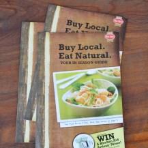 Buy Local. Eat Natural. brochure design