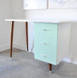 Vintage Desk Before and After
