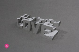Lex Wilson's 3D Typography Will Make You Think