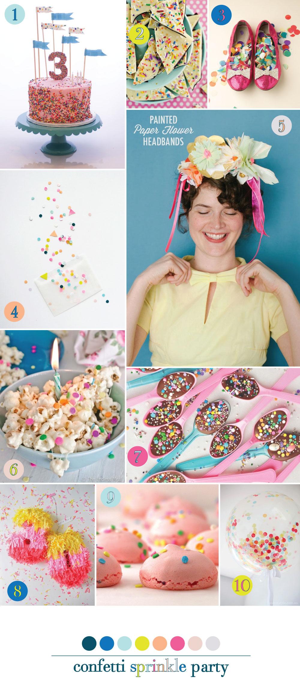 Confetti Sprinkle Inspiration Board