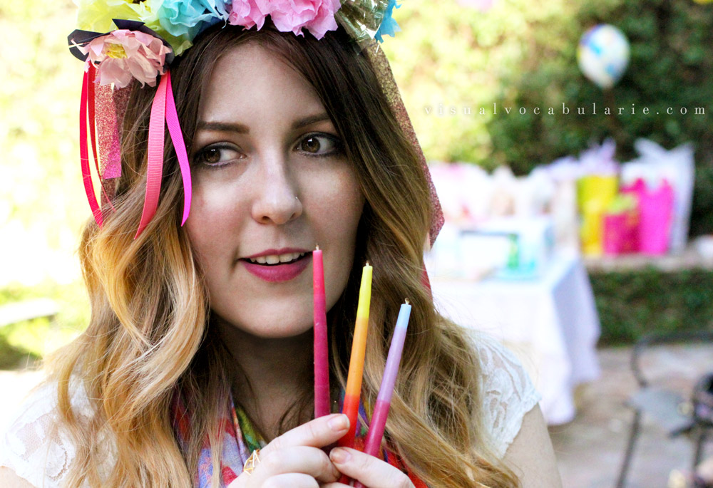 3-Candles-tissue-flower-crown-